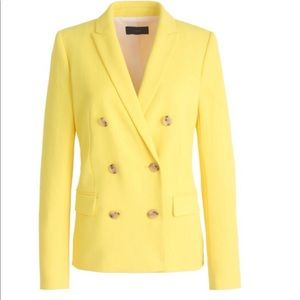 J.Crew Double Breasted Yellow Blazer